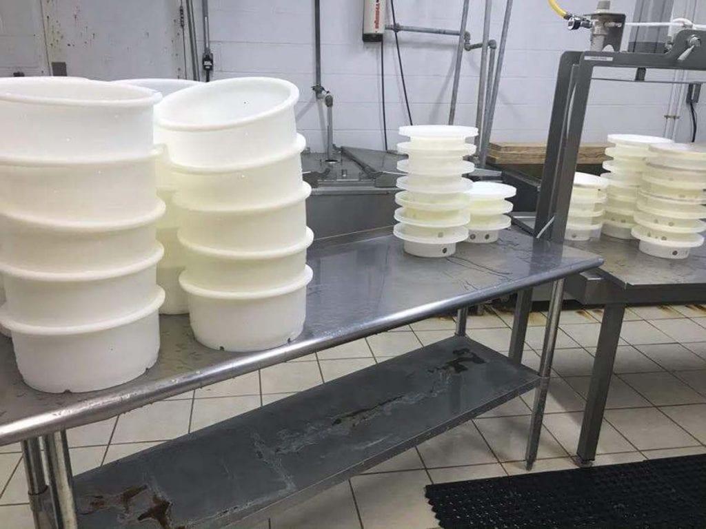 Sanitized cheesemaking equipment