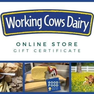 Working Cows Dairy Online Store Gift Certificate